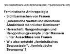 gleichberechtigung und oder emanzipation frauenbewegungen 125