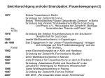 gleichberechtigung und oder emanzipation frauenbewegungen 242
