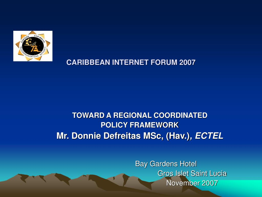 caribbean internet forum 2007 l.