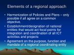 elements of a regional approach