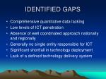 identified gaps