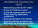 information technology units