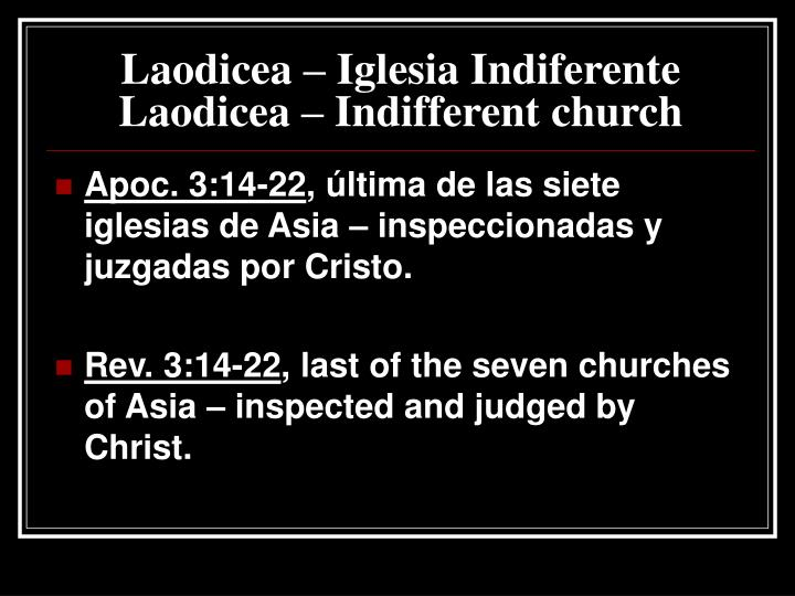 Laodicea iglesia indiferente laodicea indifferent church