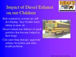 impact of diesel exhaust on our children
