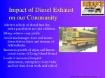impact of diesel exhaust on our community