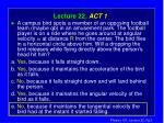 lecture 22 act 1