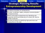strategic planning results entrepreneurship development