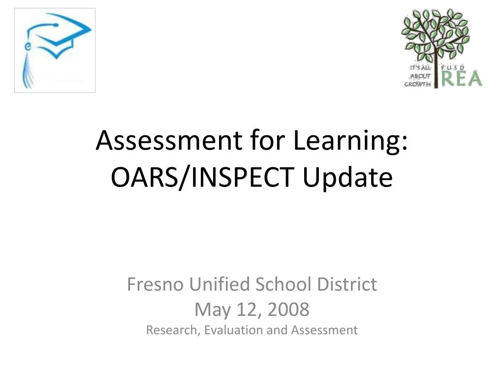 assessment for learning oars inspect update l.