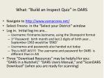 what build an inspect quiz in oars