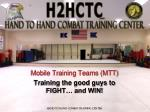 mobile training teams mtt training the good guys to fight and win