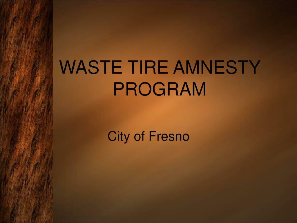 waste tire amnesty program l.