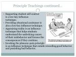 principle teachings continued