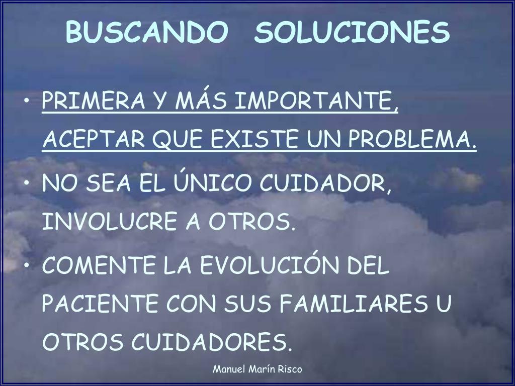 BUSCANDO  SOLUCIONES