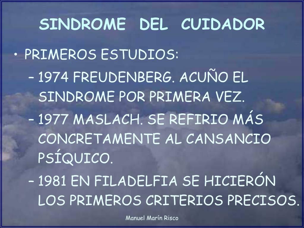 SINDROME  DEL  CUIDADOR