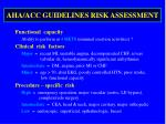 aha acc guidelines risk assessment