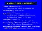 cardiac risk assessment