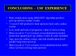 conclusions usf experience