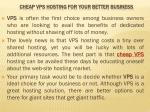 cheap vps hosting for your better business