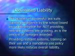 decreased liability