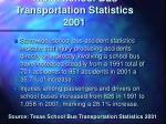 texas school bus transportation statistics 2001