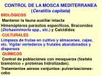 control de la mosca mediterranea ceratitis capitata