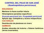 control del piojo de san jos quadraspidiotus perniciosus