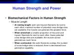 human strength and power21