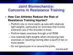 joint biomechanics concerns in resistance training37