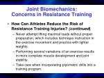 joint biomechanics concerns in resistance training38