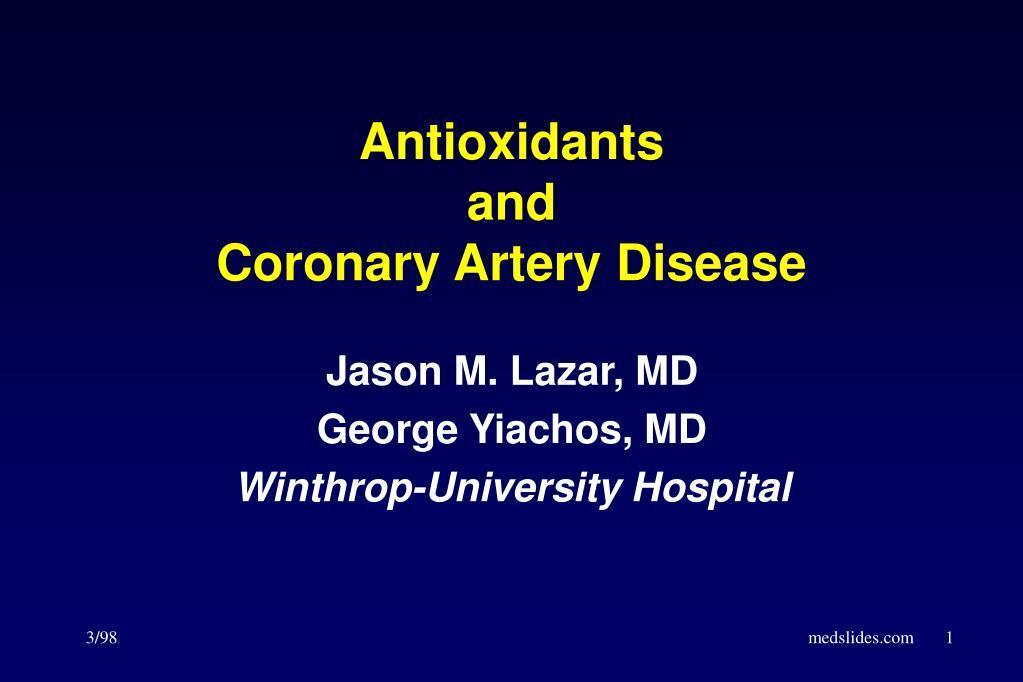 antioxidants and coronary artery disease l.