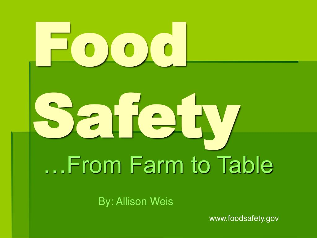 food safety l.