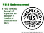 fsis enforcement