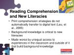 reading comprehension and new literacies