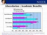 abecedarian academic benefits