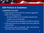 gsa policies guidelines