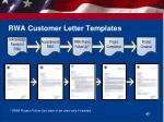 rwa customer letter templates