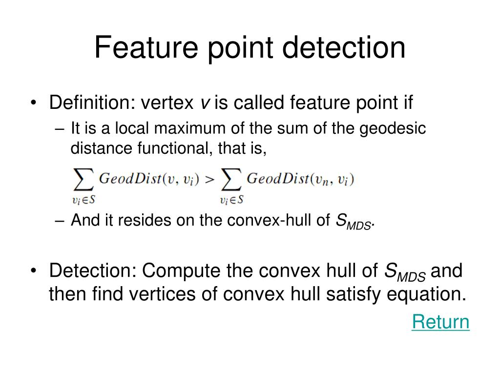 Feature point detection