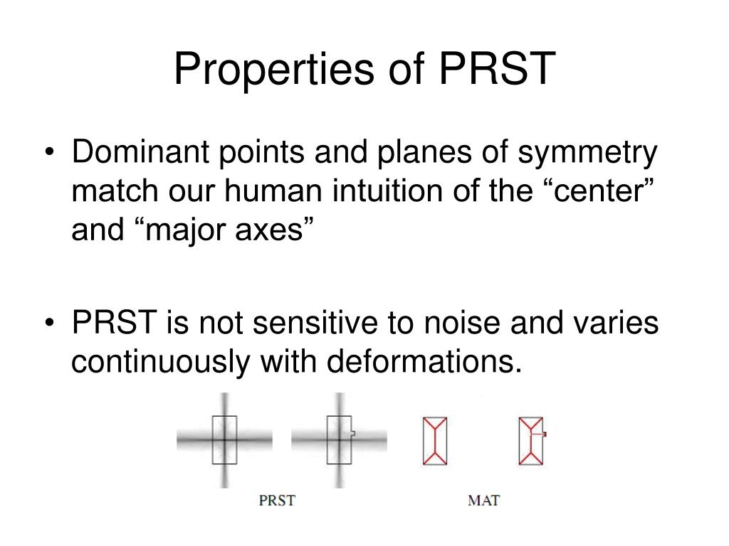 Properties of PRST