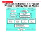 a probabilistic framework for federal process technology decision making