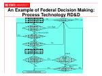 an example of federal decision making process technology rd d