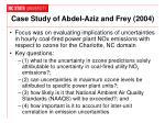 case study of abdel aziz and frey 2004