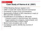 case study of hanna et al 2001