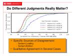 do different judgments really matter