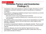 emission factors and inventories findings 1
