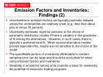 emission factors and inventories findings 2