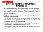 emission factors and inventories findings 3