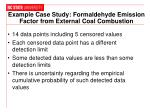 example case study formaldehyde emission factor from external coal combustion
