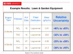 example results lawn garden equipment