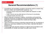 general recommendations 1