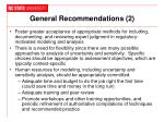 general recommendations 2